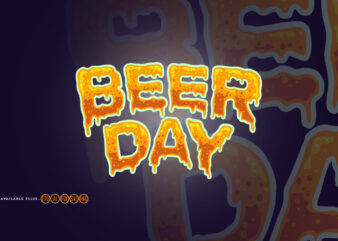 Beer Day Typography Font Effect