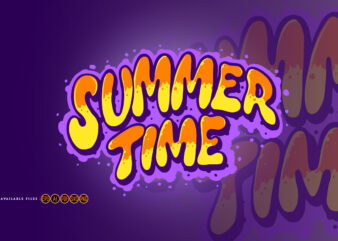 Summer Time Typeface Hand Drawn