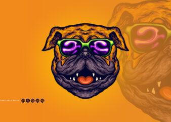 Cool Pug Dog Summer Sunglasses Cartoon