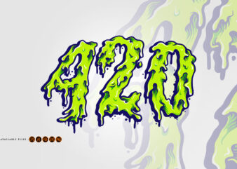 420 Cannabis Melt Typeface
