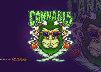 Weed Joint Cool Monkey Cannabis