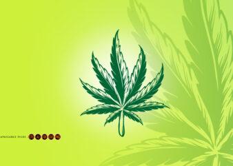 Kush Leaf Simple Logo Illustrations