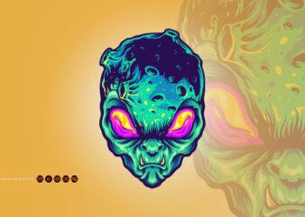 Monster Alien Galaxy Space Illustrations