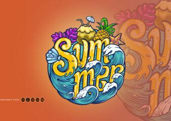 Summer Wave Typeface Tropical Design