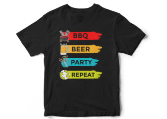 BBQ BEER PARTY REPEAT – T-Shirt design