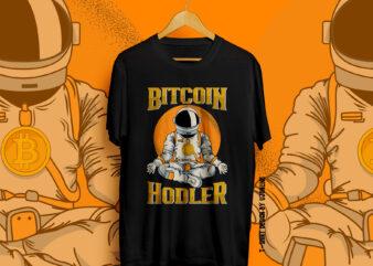 BITCOIN, Bitcoin Holder, Bitcoin Trader, BUll Coin, Bitcoin Vector, Bitcoin to the moon, Bitcoin T-shirt design, CryptoCurrency t-shirt design, Crypto, To the moon, Hold bitcoin, Bitcoin NFT
