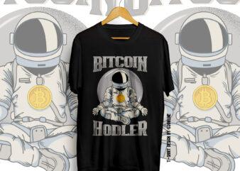 BITCOIN, Bitcoin Holder, Bitcoin Trader, BUll Coin, Bitcoin Vector, Bitcoin to the moon, Bitcoin T-shirt design, CryptoCurrency t-shirt design, Crypto, To the moon, Hold bitcoin, Bitcoin NFT, silver