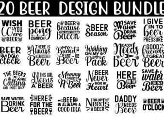 Beer SVG T shirt design Bundle