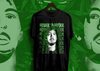 BOB MARLEY, Weed, ONE love, marijuana, Iron lion, Positive vibration, Bob Marley merchandise t-shirt design, Reggae, Music, Bob Marley music, bob Marley vector t-shirt design