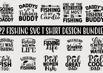 Fishing SVG T shirt Design Bundle