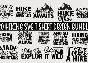 Hiking SVG T shirt Design Bundle