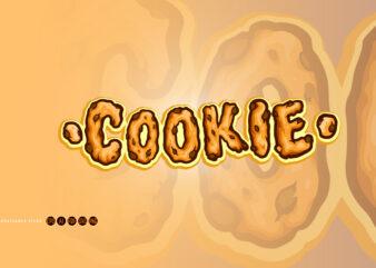 Cookie Biscuit Typeface Font Cartoon