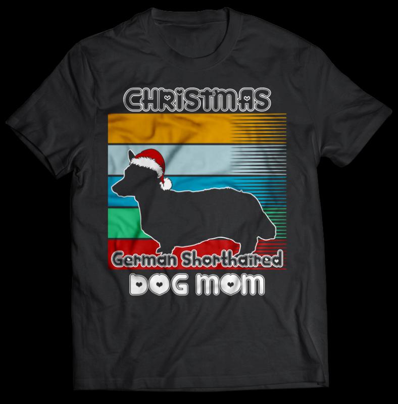 37 Christmas DOG MOM Tshirt designs bundle