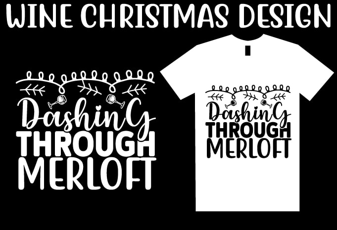Wine Christmas T shirt Design Bundle