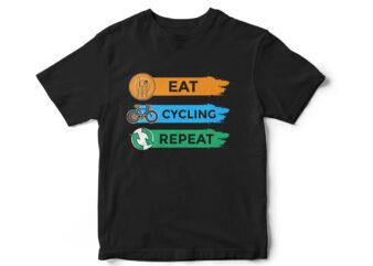 Eat Cycling Repeat T-Shirt design