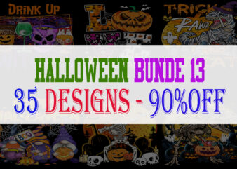 SPECIAL HALLOWEEN BUNDLE PART 13 – 35 EDITABLE DESIGNS – 90% OFF-PSD and PNG – LIMITED TIME ONLY!
