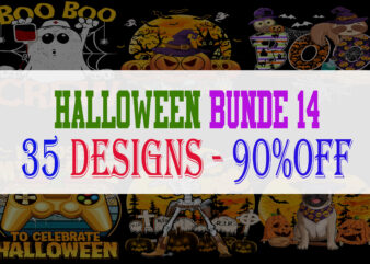 SPECIAL HALLOWEEN BUNDLE PART 14 – 35 EDITABLE DESIGNS – 90% OFF-PSD and PNG – LIMITED TIME ONLY!