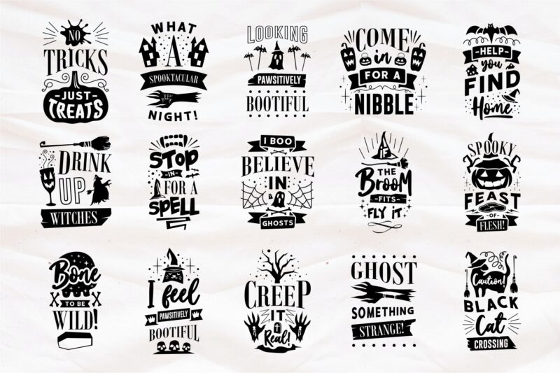 Halloween Mega Bundle SVG Quotes