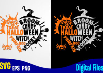 Halloween, Trick or Treat, Happy Halloween, Halloween svg, Funny Halloween design svg eps, png files for cutting machines and print t shirt designs for sale t-shirt design png