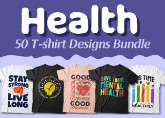 Health t-shirt designs bundle, healthy lifestyle, Health quotes design