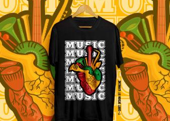 MUSIC HEART, Music, Music Instruments, Music Illustration, Music Typography, Heart, Music Lover, Music Vectors, Music Heart Vector, Sound, Singers, Music T-Shirt design