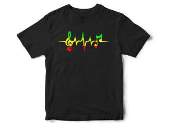 Music, reggae, Music T-shirt, reggae T-shirt, Music lover, Music design, music notes, music vector