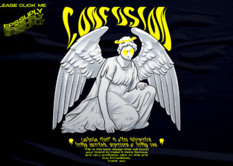 CONFUSION, sad angel streetwear design