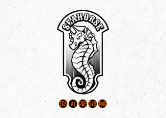 Sea Horse Badge Silhouette