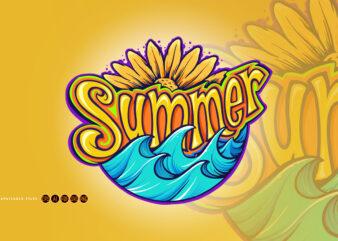Summer Typeface Modern Tropical
