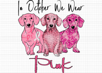 In October We Wear Pink Dog, Pink Dog Png, Breast Cancer Awareness png, Pink Cancer Warrior png, Pink Ribbon, Halloween Pumpkin, Pink Ribbon Png, Autumn Png, Dog Halloween