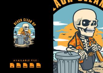Beach Clean Up T-shirt Design