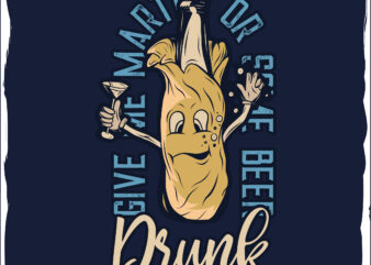 Drunk bootle t-shirt design