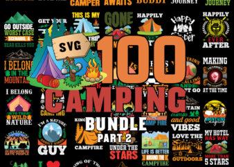 Camping Svg Bundle part 2, Camp Life Svg, Campfire Svg, Dxf Eps Png, Silhouette, Cricut, Cameo, Digital, Vacation Svg, Camping Shirt Design