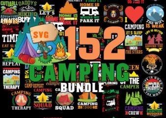 Camping Svg Bundle, Camp Life Svg, Campfire Svg, Dxf Eps Png, Silhouette, Cricut, Cameo, Digital, Vacation Svg, Camping Shirt Design