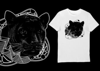 Artistic T-shirt Design – Animals Collection: Panther