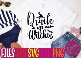 Drink up witches graphic t shirt