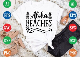 Aloha beaches graphic t shirt