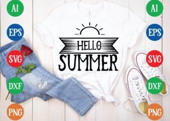 Hello summer t shirt template