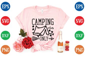 camping vibes only t shirt vector illustration