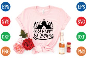Happy camper t shirt template