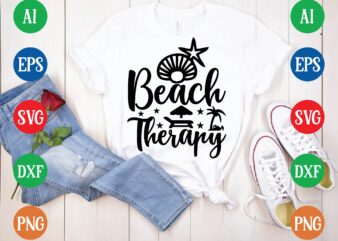 Beach therapy t shirt template