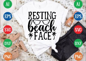 Resting beach face graphic t shirt