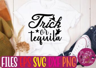 tricr or teguila graphic t shirt
