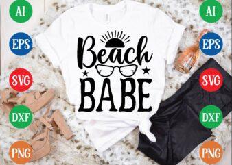 Beach babe t shirt template