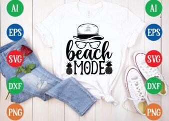 Beach mode t shirt template