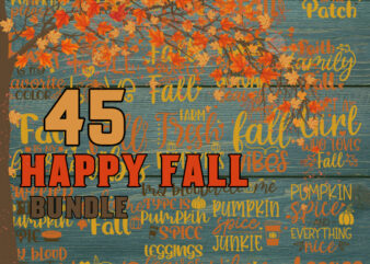 Happy Fall svg | Fall svg bundle hand lettered | autumn svg | thanksgiving svg | hello fall svg | pumpkin svg | fall shirt svg | fall sign svg png