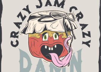 Jam funny face t-shirt design