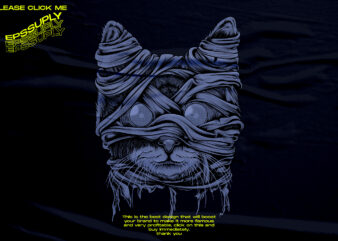 cat mummy halloween design tshirt