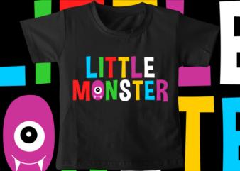 kids / baby t shirt design, little monster, funny t shirt design svg , family t shirt design, unique t shirt design