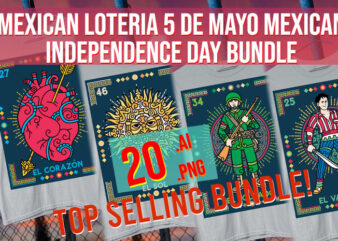 Mexican Loteria Mexican Independence Day 5 De Mayo 16 September Viva Mexico Bundle